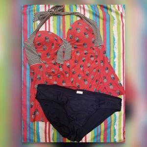 Merona pineapple tankini swim suit
